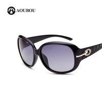 AOUBOU 선글라스 여성 클래식 블랙 라운드 프레임 다이아몬드 로고 빈티
