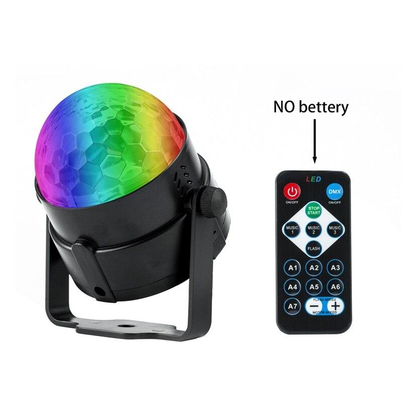Кристалл RGB светодиодный дискотечный шар мерцающий Вечерние огни с дистанционным Управл ...