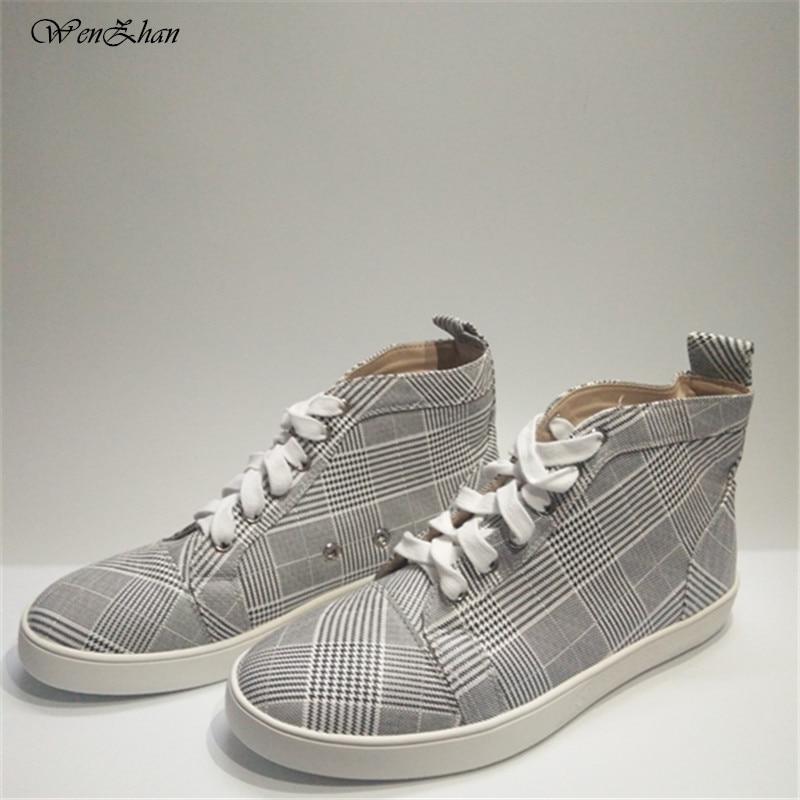 Top Wenzhan Damen Lederschuhe Sneakers High Fr Fashion F1cJTlK