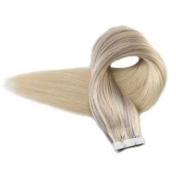 Полный глянцевая лента на волосы выметания Цвет #18/22/60 скандинавский блонд 100% Remy Пряди человеческих волос для наращивания 50 грамм Cheveux Humain