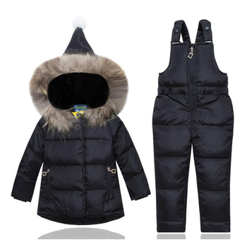 Baby Down Jacket made of Goose feather Christmas Costumes for Girls Kids Jacket Coat Clothes Sets Children Winter Overalls Suit