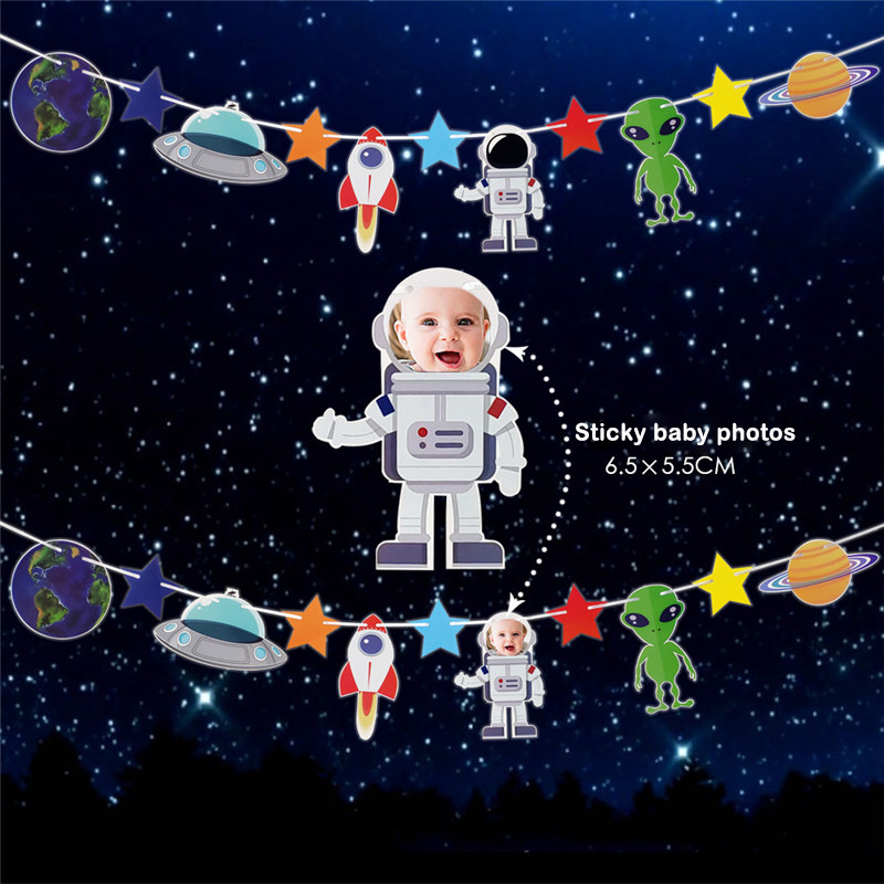 """Crafts 2m Gift Wrap Space Planets Ribbon 1/"""" Wide For Cakes Etc"""