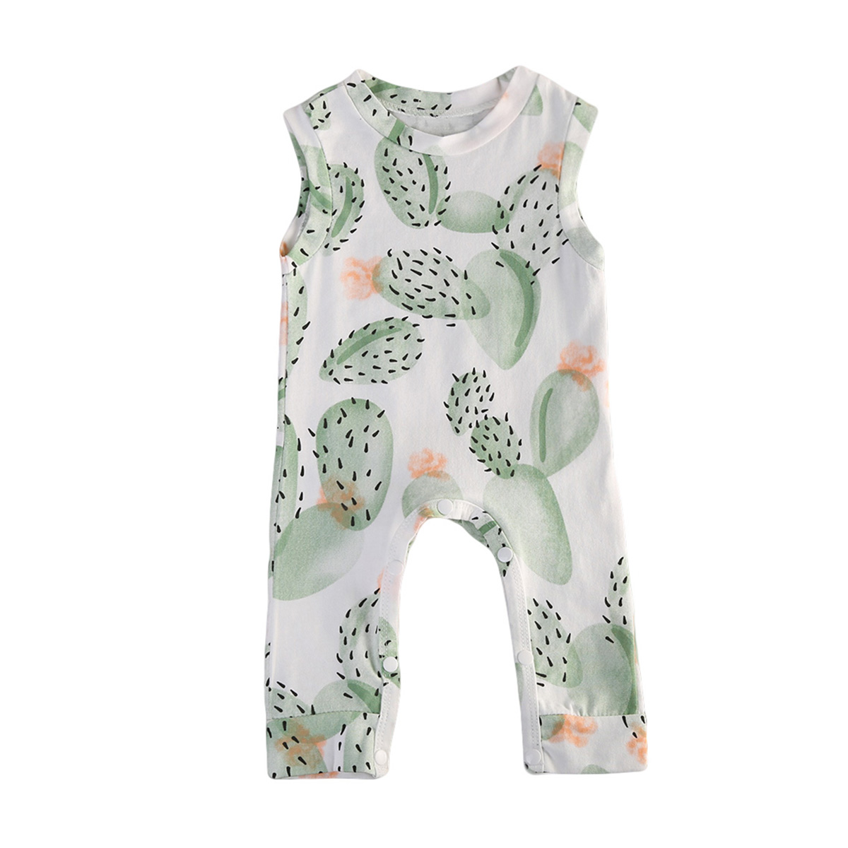 New Arrival Summer Newborn Baby Boy Girl Cactus Print Jumpsuit Babies Boys Girls Cotton   Romper   Jumpsuit Clothes Outfits Sunsuit