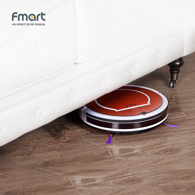 Fmart YZ-Q1 3 in 1 Robot Vacuum Cleaner Home Cleaning Appliances 128ML WaterTank Wet 300ML Dustbin Sweeper Aspirator Cleaning