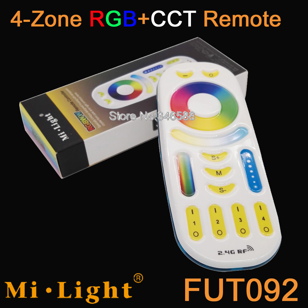 Mi.light <font><b>FUT092</b></font> RGB+CCT 4-Zone Touch Panel Remote Controller 2.4G Wireless for Milight RGB+CCT Bulb Controller etc. image