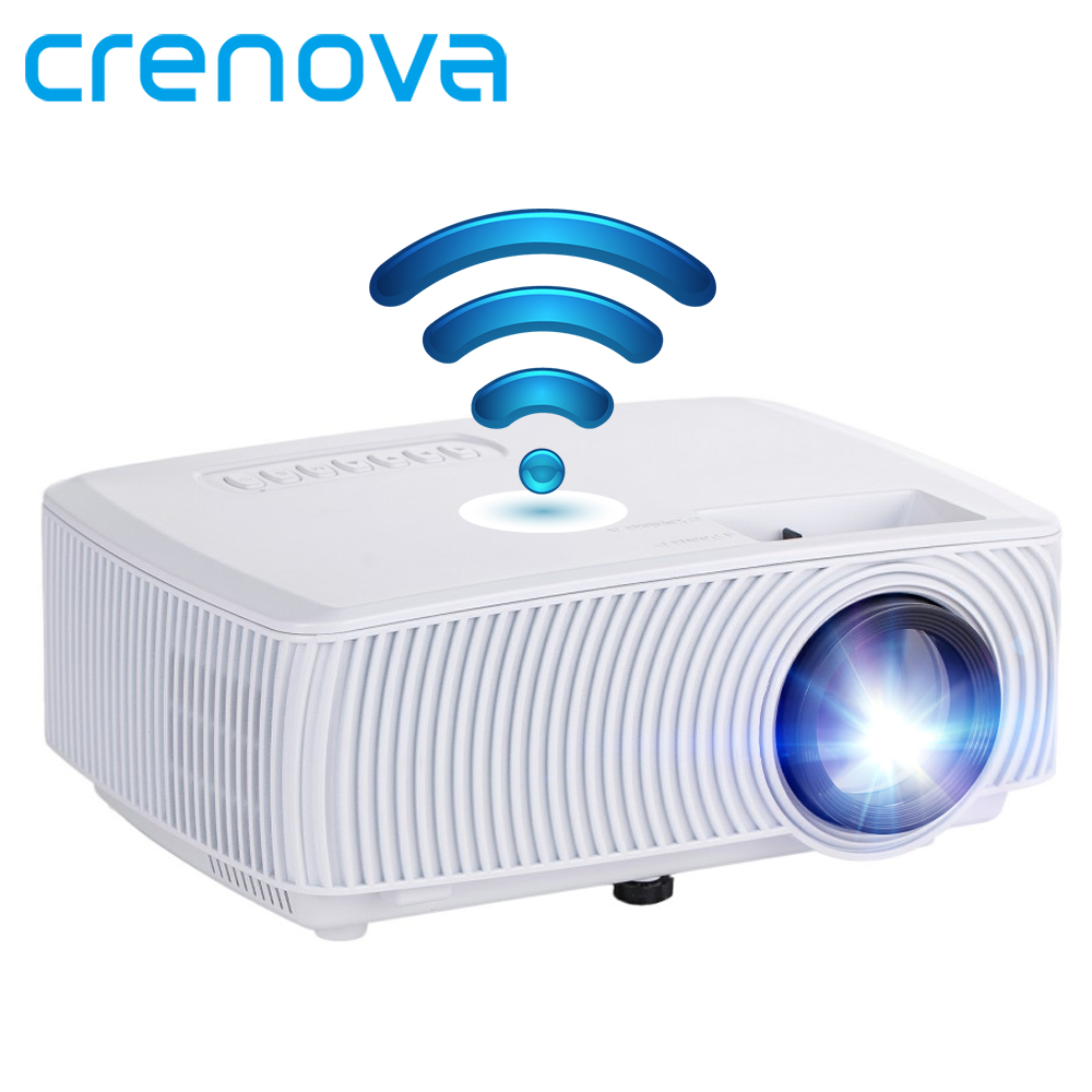 CRENOVA Video Projector Support Full HD 1080P Wireless Wired Sync Display With WIFI Home Theater Movie LED Projector Beamer ice cream cart toy