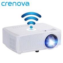 CRENOVA Supporto Video Proiettore Full HD 1080 P Wireless Wired Visualizzazione di Sincronizzazione Con WIFI Film del Teatro Domestico HA CONDOTTO il Proiettore Beamer