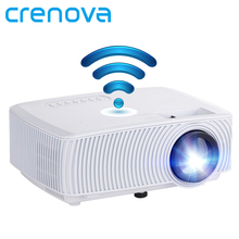 CRENOVA Video Projector Support Full HD 1080P Wireless Wired Sync Display With WIFI Home Theater Movie LED Projector Beamer