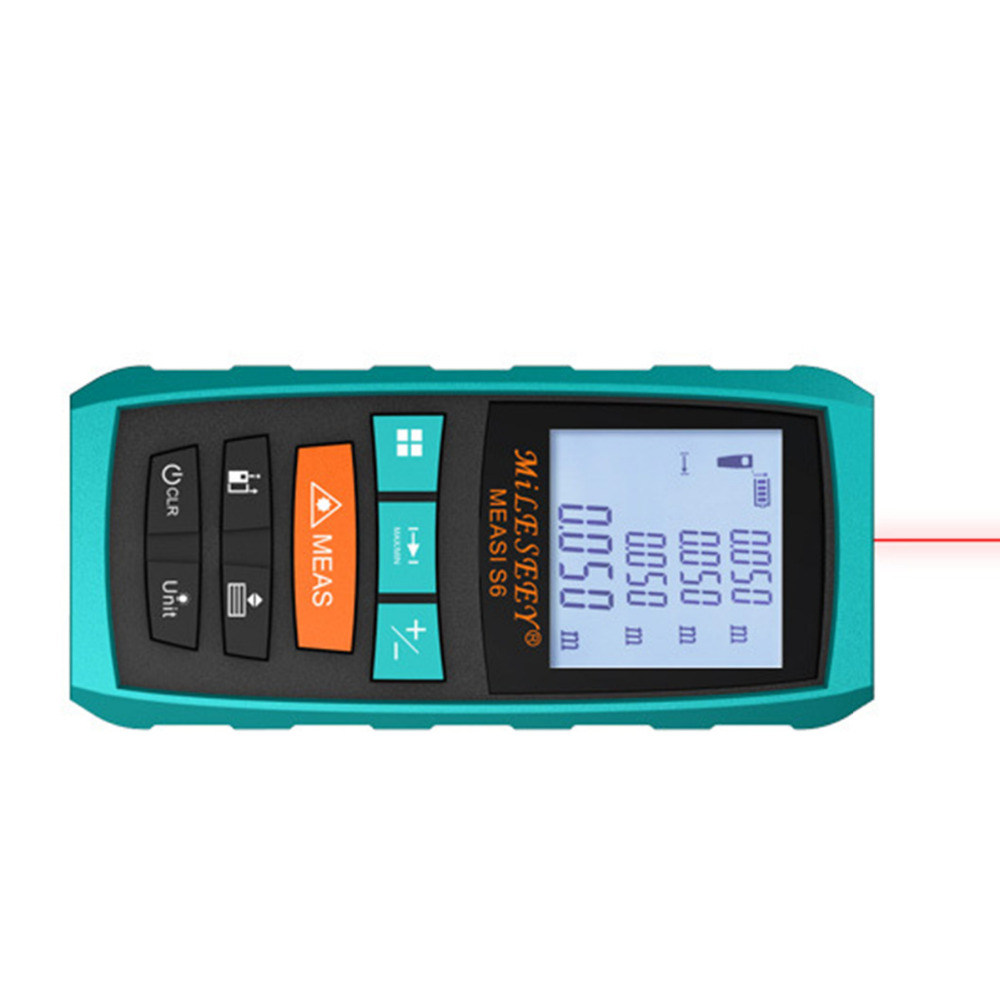 Mileseey Rangefinder S6 40M 60M 80M 100M Laser Distance Meter Blue Digital Range Finder Area/volume laser measuring instrument спортивные товары joinfit kettelbell rackjf
