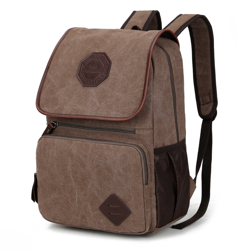 Vintage Canvas Men Laptop Backpack 14 Inch Large Casual Travel Backpack Male Leisure School Bags For Teenager Boys Rucksack 1336 large 14 15 inch notebook backpack men s travel backpack waterproof nylon school bags for teenagers casual shoulder male bag