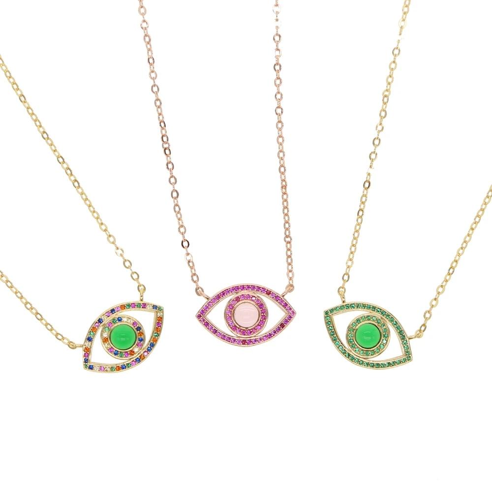 Vintage GreenRed Enamel Medal Necklace