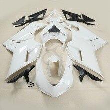 Branco Unpainted Injection Fairing Carroçaria set Para DUCATI 1098 848 1198 07-12 Motocicleta
