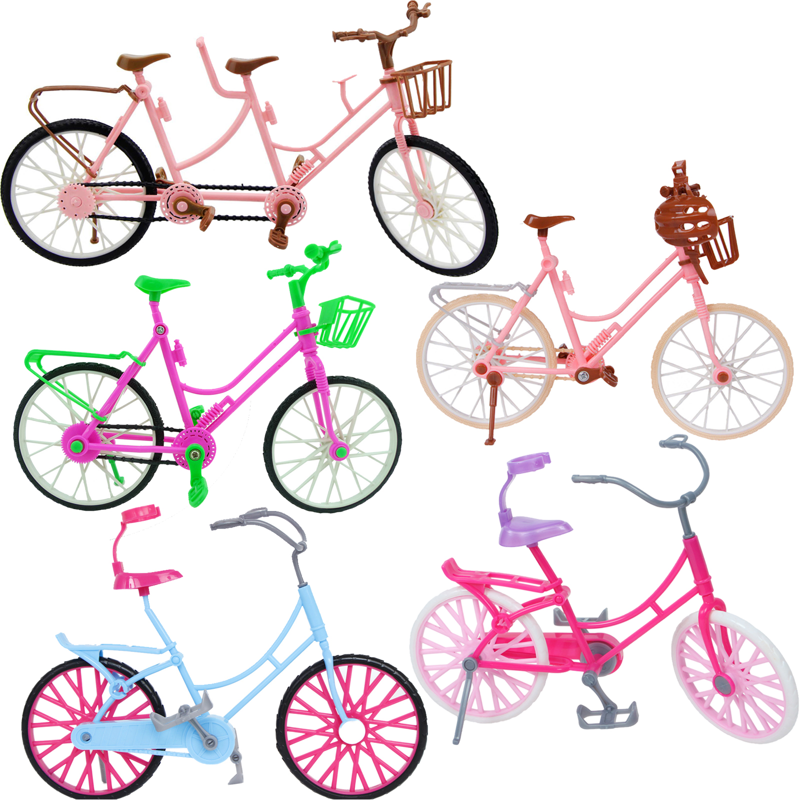 1 Set Detachable Bicycle Bike Mini Toy Outdoor Sports Doll Accessories For Barbie 12 In. Dollhouse Ken Kelly Girl Set Lot Style