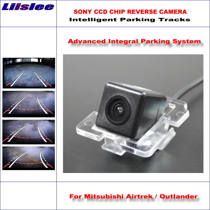 Liislee Intelligentized Reversing Camera For Mitsubishi Airtrek / Outlander Rear View Dynamic Guidance Tracks