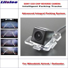 Liislee Intelligentized Reversing Camera For Mitsubishi Airtrek / Outlander Rear View Dynamic Guidance Tracks