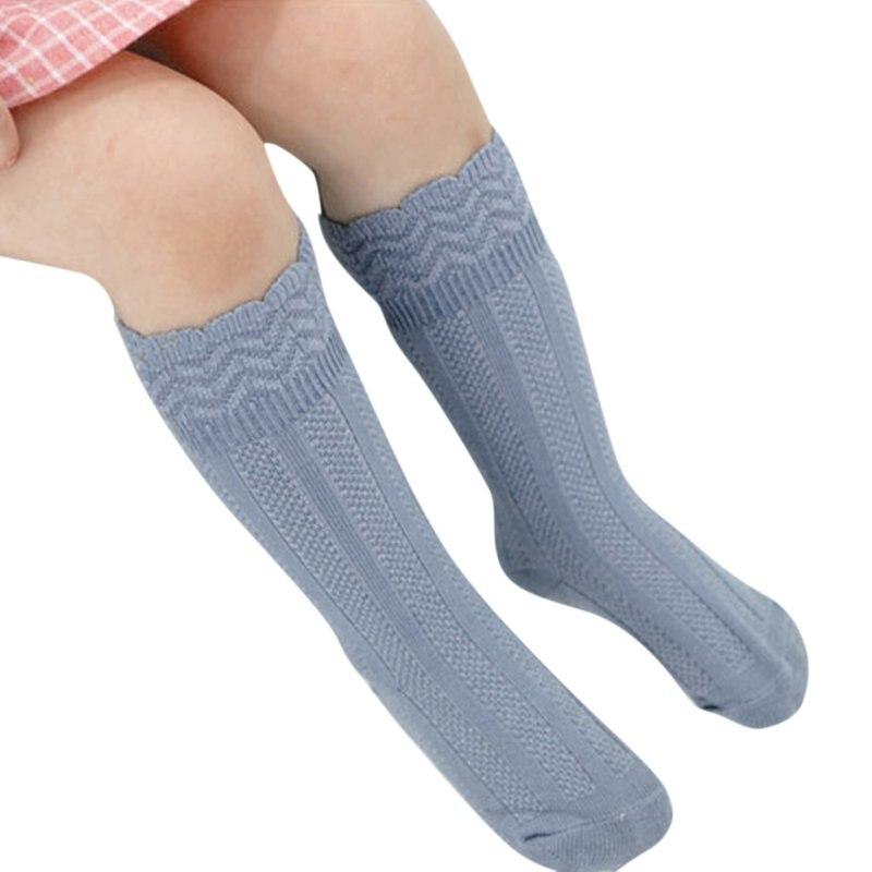 Детская одежда для малышей Обувь для девочек Смешанный Хлопок Дышащие Колено Высокие Длинные теплые гетры J2 ...