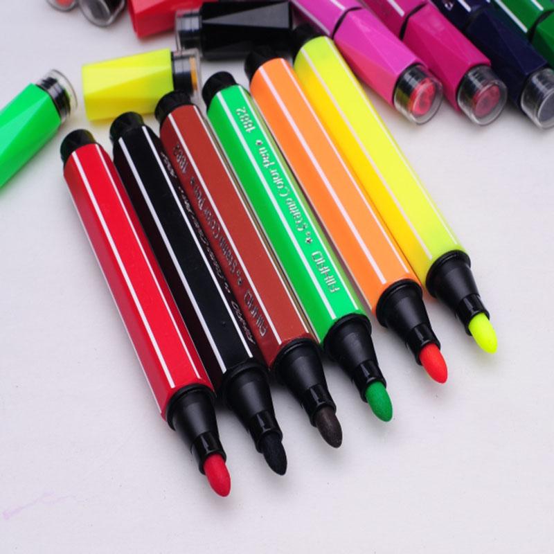 Watercolor Pen Brush Marker Cute Korean Highlighter Stationery Copic ...