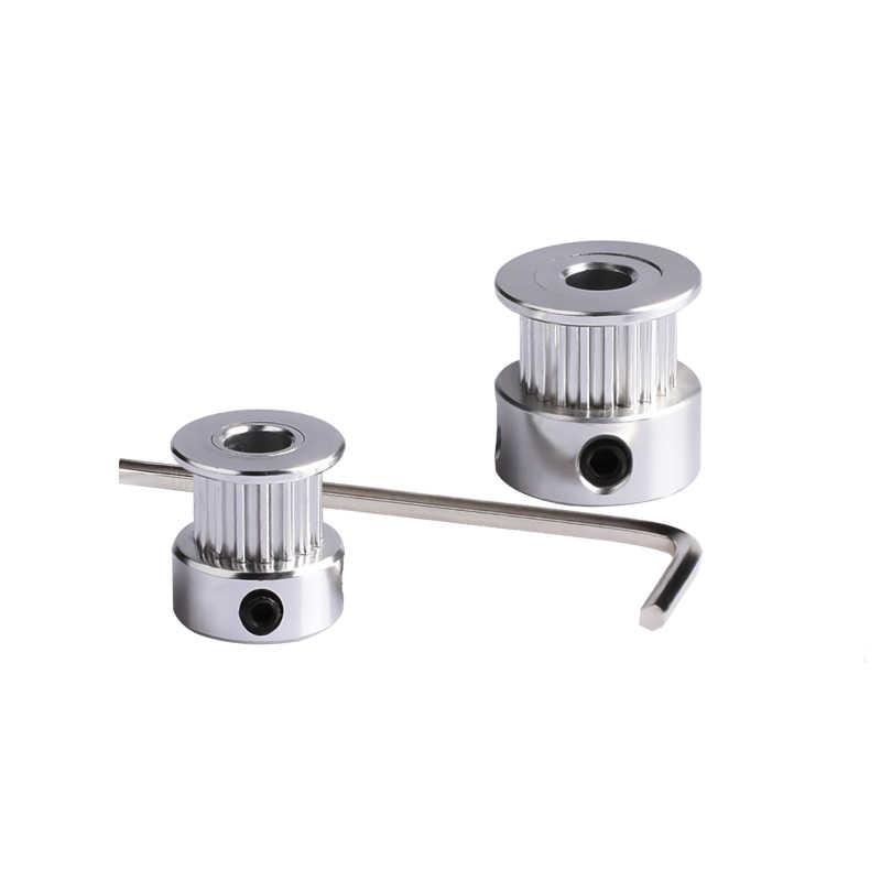 Peças de impressora 3d gt2 polia 20 dentes furo 5mm alumium apto para gt2 correia cronometrando largura 6mm reprap impressora 3d