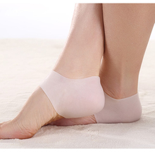 1 Pair 2PCS New Soft Silicone Foot Care Tool Moisturizing Gel Heel Socks Cracked Skin Protector