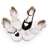 Angelic imprint The princess shoes Chunky Heel Women lolita Pumps Sweet Lovely High Heels Lolita Shoes size 35 46 8952