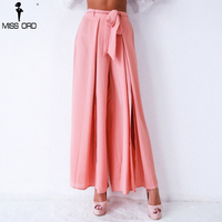 Missord 2018 Sexy OL new summer style female elastic waist trousers pleated pants FT9403