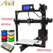 Высокое Качество Полный металлический Каркас Anet A2 3d Комплект принтера DIY Легко Соберите + Алюминиевый Очаг + SD card + инструменты + 0.5 КГ ABS 3d накаливания