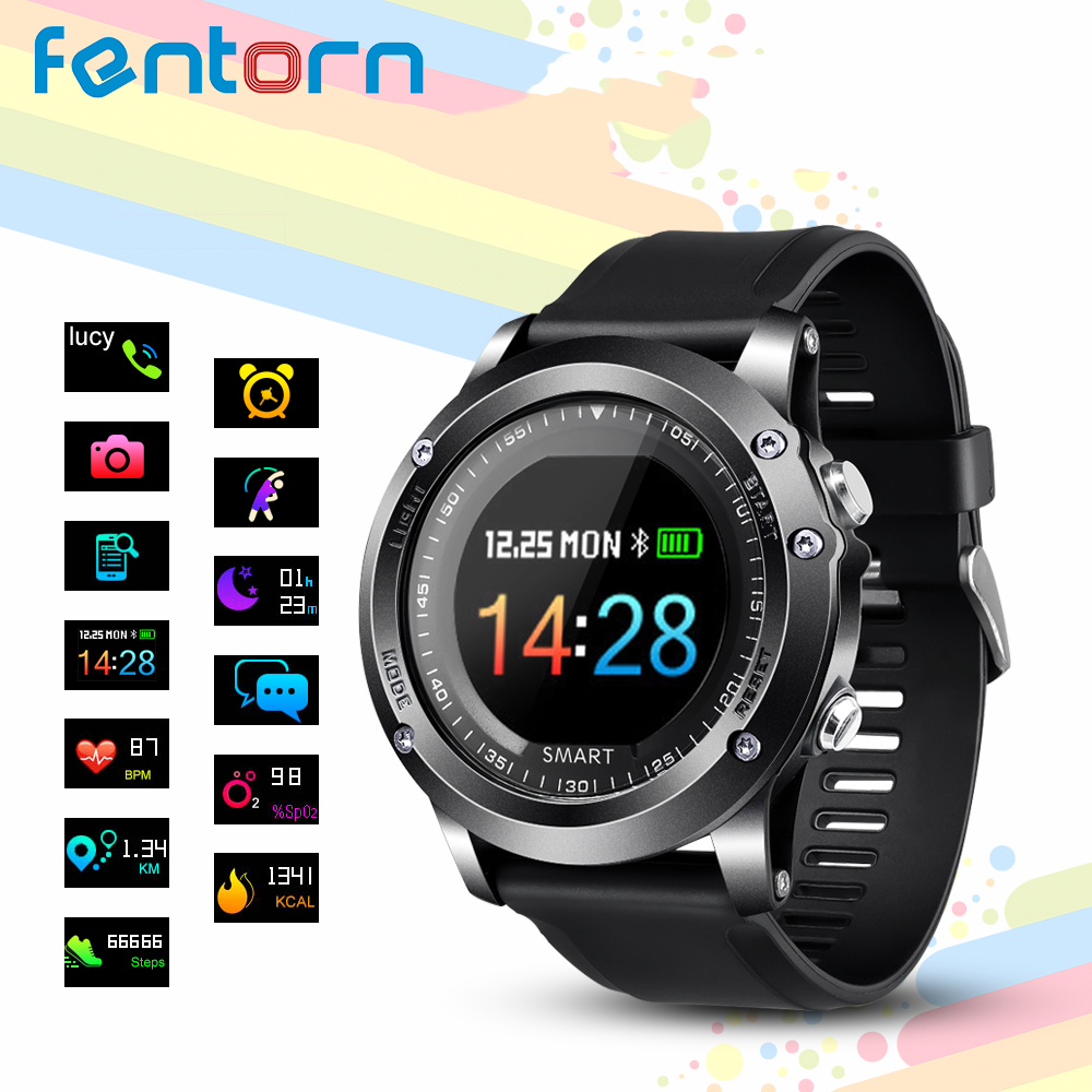 Fentorn T2 Smart Watch IP68 Waterproof Heart Rate Blood Pressure oxygen monitor Outdoor Sport Bluetooth Smartwatch