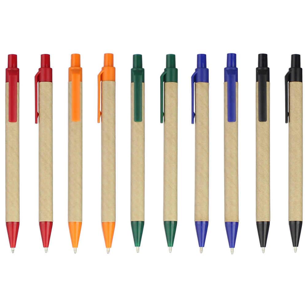 Eko Kağıt Tükenmez Kalem, plastik klips, Siyah Mürekkep Tükenmez Yeşil Konsept Çevre Dostu, Özelleştirilmiş Promosyon Hediye, logo teşhiri