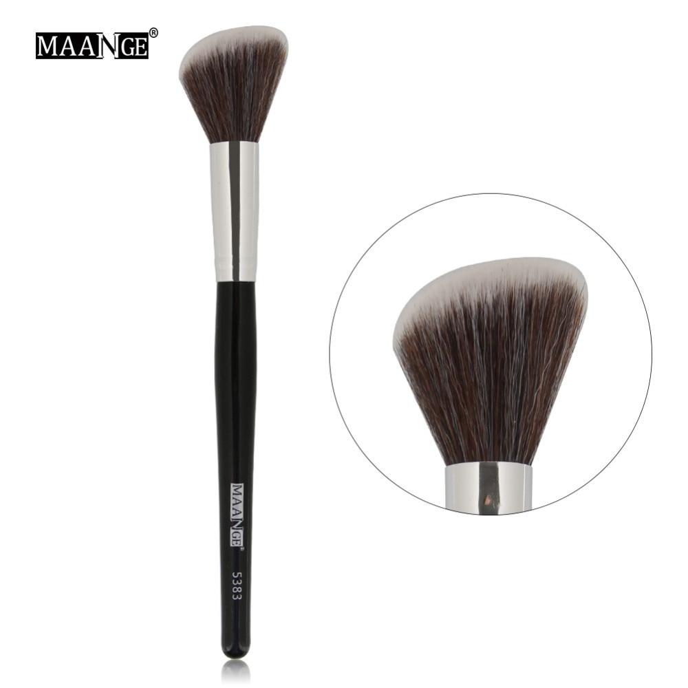 Maange 1pcs Oblique Head Blush Makeup Brush Face Cheek Contour Cosmetic Powder Foundation Blush Brush Angled Makeup Brush Tools