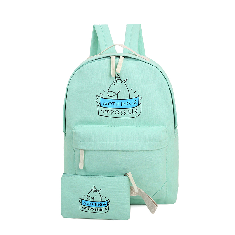 Свежий Школьные ранцы для девочек высокое качество печати холст Рюкзаки Подросток школьный рюкзак Mochila