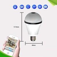 LED Light 960P Wireless Panoramic Home Security WiFi CCTV Fisheye Bulb Lamp IP Camera 360 Degree Night Vision AS IPB203Y