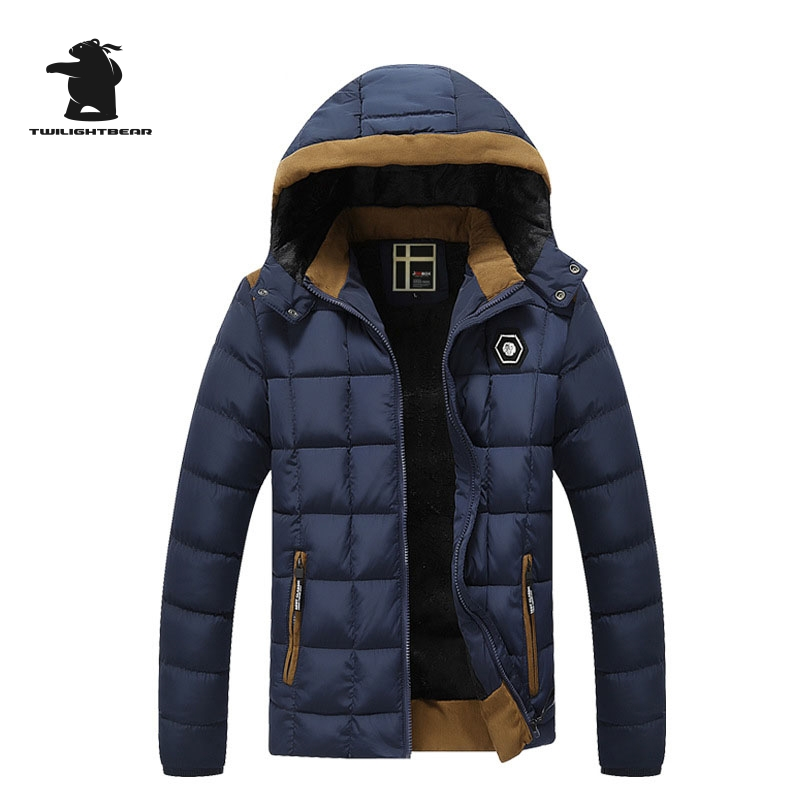 New Men s Winter Jacket Fashion Hooded Thickened Quilted Jacket Men Designer Casual Plus Size Winter