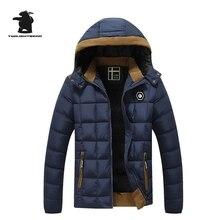 Новый мужской Зимняя Куртка Мода Капюшоном Утолщенной Стеганые Куртки Мужчины Дизайнер Повседневная Плюс Размер Зима Парки Пальто L ~ 3XL D8E82074