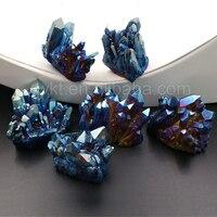 WT-G236 Bán Buôn Titanium Cầu Vồng Quartz Cụm Đẹp Pha Lê Cụm Trang Trí Nội Thất Đá Mẫu Vật Khoáng Vật Healing Đá Thạch Anh