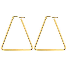 New Arrival Trendy Personality Triangle Stud Earring For Women Stainless Steel Ear Piercings Fashion Jewelry wholesale компрессор воздушный насос корея для hyundai grand santa fe 2012 2018