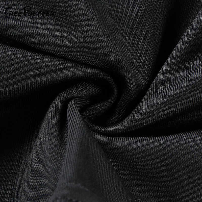 Сплошной черный выдалбливают вырез нерегулярные без рукавов спинки укороченный топ пуловер женский сексуальный клуб уличная одежда