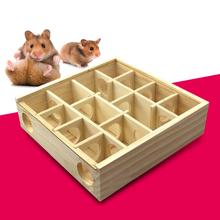 guinea pig toys Wood Hamster Exercise Wooden Toys For Hamster Intelligence Development Toys tunnel hamster funny labyrinth toy