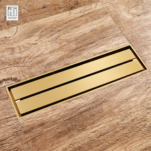 Floor-Drain Bathroom Brass-Line Deodorization-Type Gold-Color HIDEEP for Classic Family
