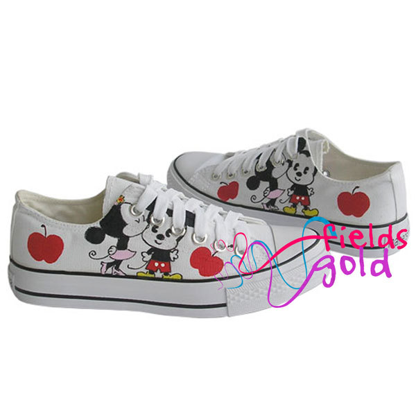 4c4c768731930 Hand Painted Canvas Sneakers sport casual Shoes(Mickey Mouse)-in Men s  Casual Shoes from Shoes on Aliexpress.com