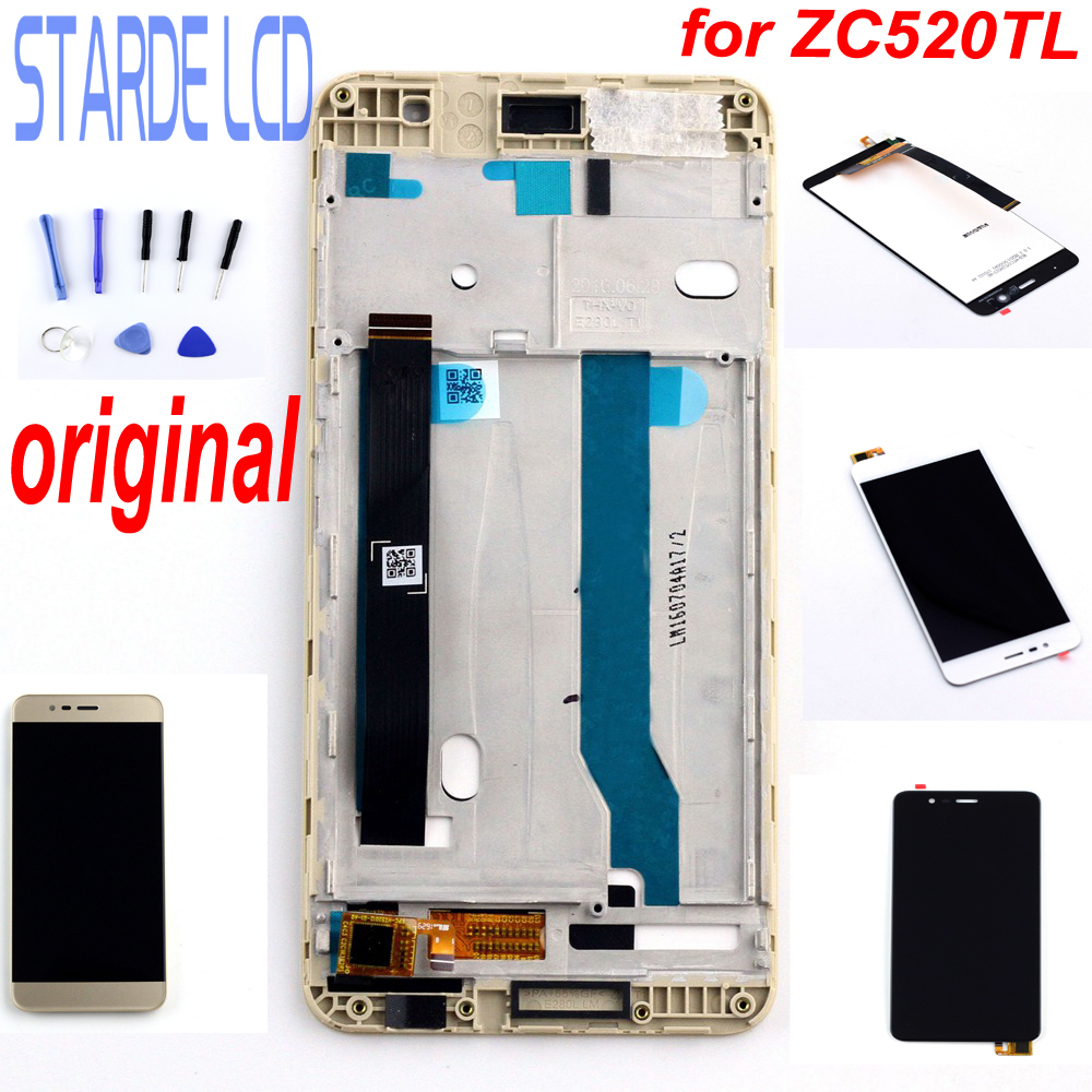 Original 5.2 for Asus Zenfone 3 Max ZC520TL Display LCD Touch Screen Digitizer Assembly X008D ZC520TL LCD Display with FrameOriginal 5.2 for Asus Zenfone 3 Max ZC520TL Display LCD Touch Screen Digitizer Assembly X008D ZC520TL LCD Display with Frame