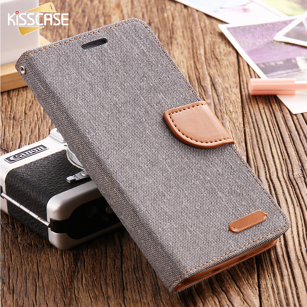 Kisscase libro flip phone case para samsung galaxy s8 paño piel plus Borde Borde