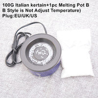 1pc Glue pot+100G Italian keratin glue constant temperature hot pot/glue stove for fusion hair extensions