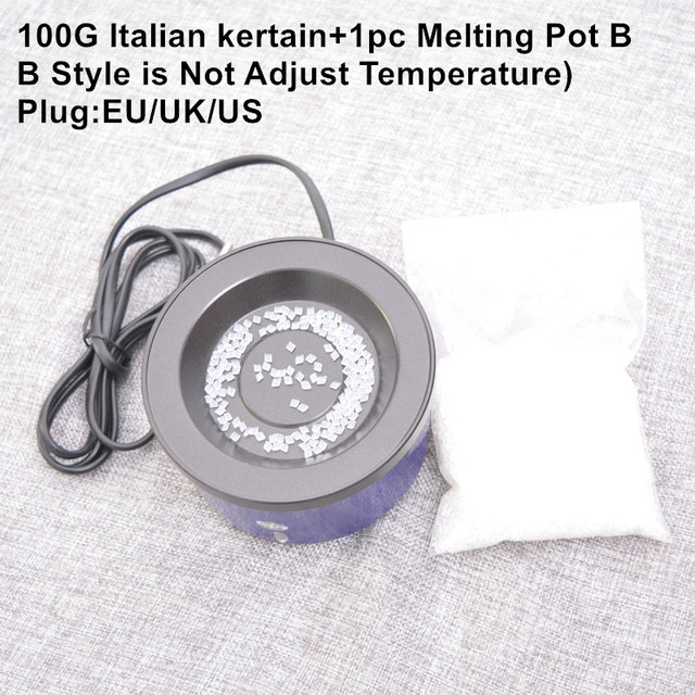 1pc Glue pot+100G Italian keratin glue constant temperature hot pot/glue stove for fusion hair extensions