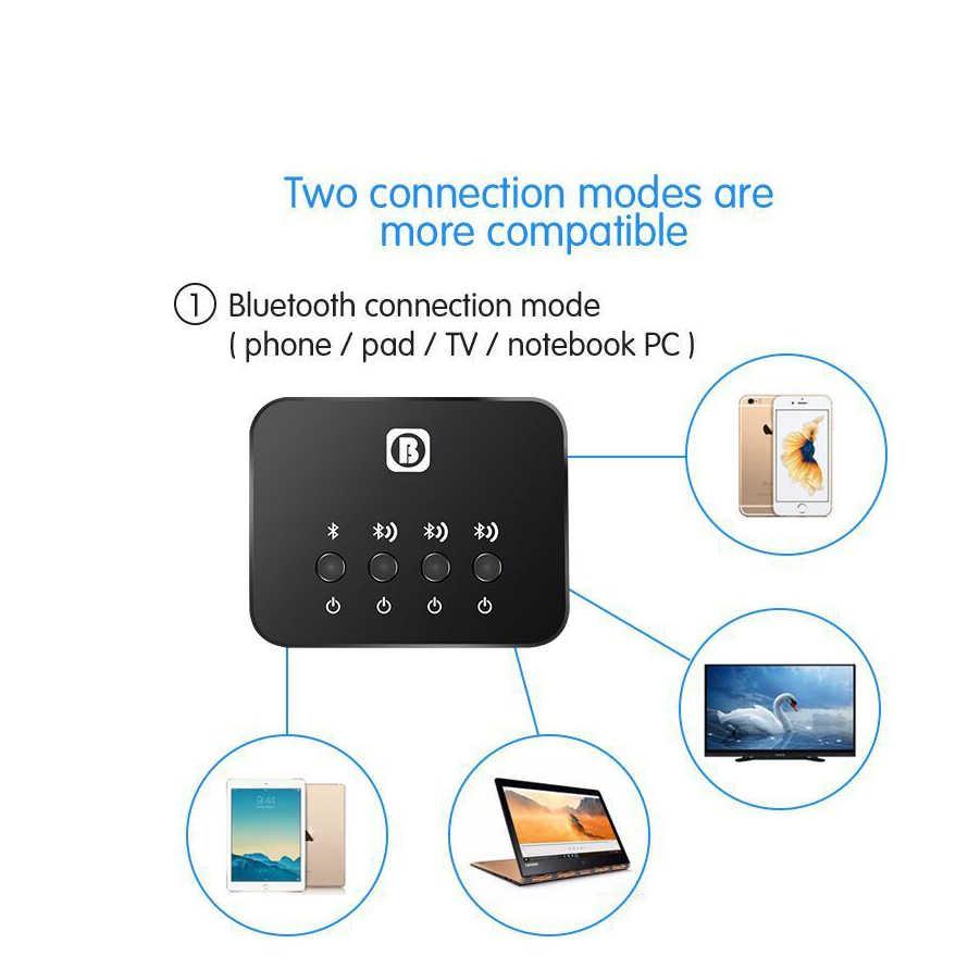 2018 мини оптический Bluetooth передатчик Aptx 1-3 мульти-пара для ТВ Dual Link Беспроводной музыкальный аудио адаптер для динамика