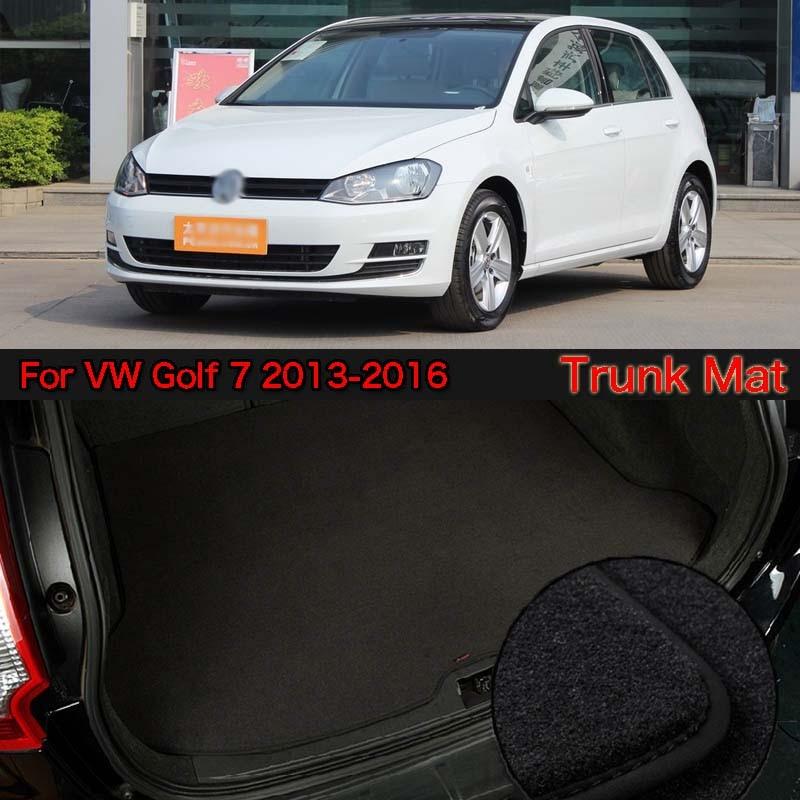 Нейлоновая ткань моющиеся багажник автомобиля Коврики для багажника коврики для VW Golf 7 2013 2016