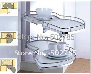 Free Shipping Some Counties Magic Corner With Revolving Basket For Kitchen Cabinet