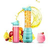 Donlim Портативный Мини авто фрукты соковыжималка машина с 2 бутылки мини блендеры смеситель Спортивные бутылки для воды