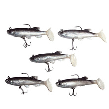 цена 5pcs/lot Soft Fishing Lure 8cm 14g Wobblers Artificial Bait Silicone Fishing Lures Sea Bass Carp Fishing Lead Fish Jig онлайн в 2017 году