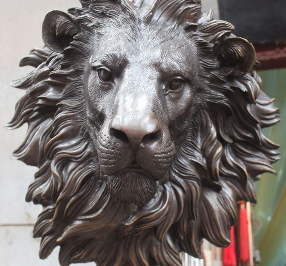 Zmr Bronze Factory Outlets Tibet Silver 12 Chinese Ride War Patung Buddha Happy Natural Sandstone Brazil 8189ct Zmrui 17 Fengshui Folk Pure African Lion Leo Mask Head Sculpture