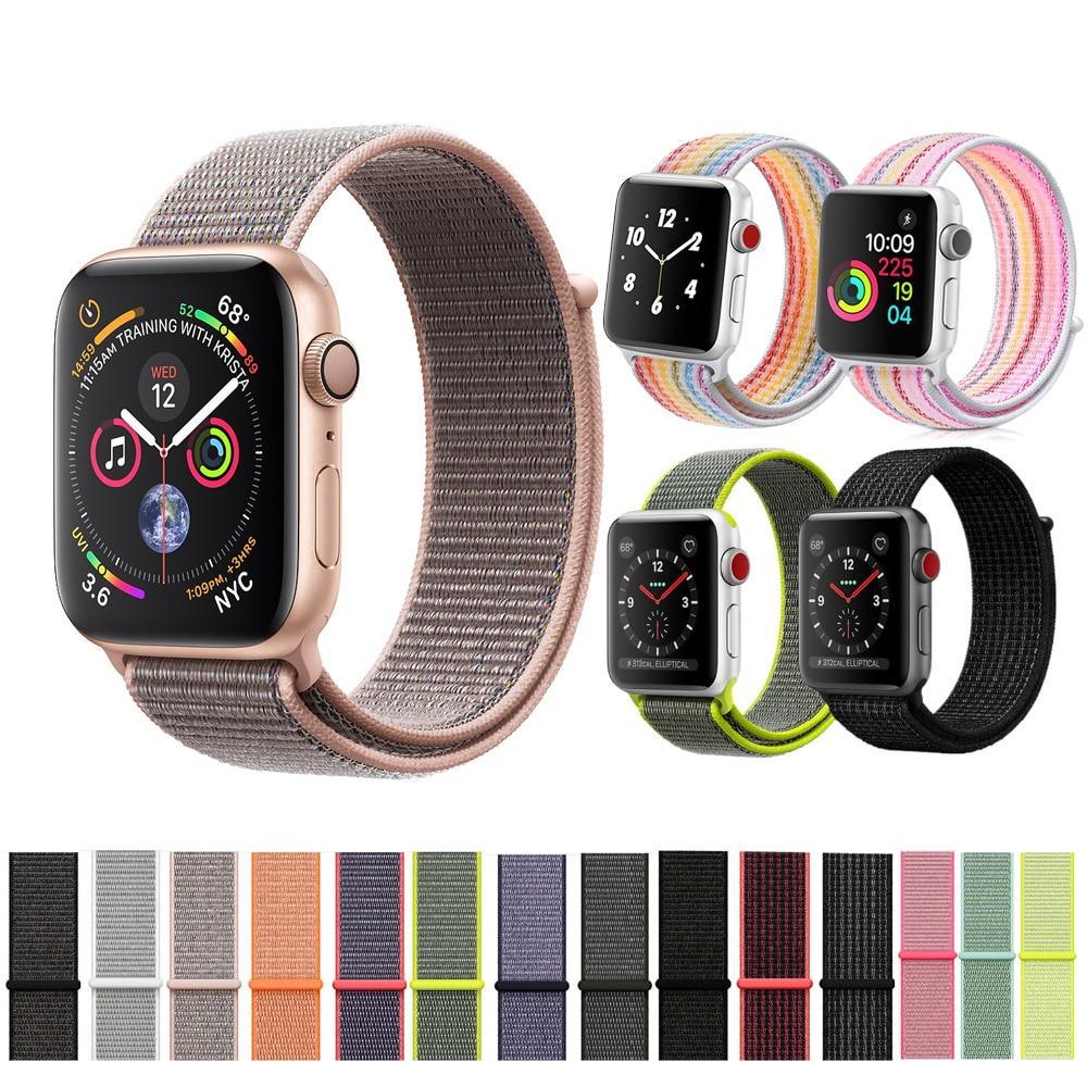 CRESTED nylon sport schleife strap Für Apple Uhr band 42mm/38mm 44mm/40mm iWatch 4/3/2/1 armband handgelenk armband zubehör